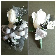 Wrist corsage and Boutionnere
