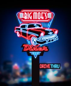 Logo and branding design for a UK based retro-themed diner. The inspirational image shown is that of the 29 Diner in Fairfax, Virginia. Cool Neon Signs, Vintage Neon Signs, Neon Light Signs, Vintage Diner, Retro Diner, Hacker Wallpaper, Retro Wallpaper, Diner Logo, Diner Aesthetic