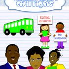This set about the Civil rights movement includes colored and line art graphics for:Rosa ParksMartin Luther KingRuby BridgesA busThe Greensbo...