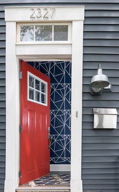 Before & After: A Logan Square Stunner for the Color-Averse | Design*Sponge (I love this entrance. -JL)