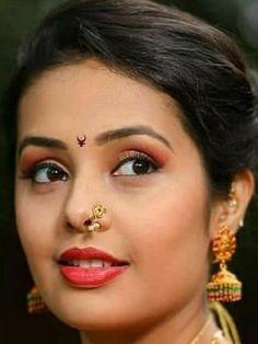 Nose Jewels, Beautiful Indian Actress, India Beauty, Most Beautiful Women, Indian Actresses, Night Gown, Beauty Women, Close Up, Desi