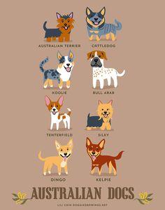 Adorable Colección de Posters para conocer el Origen de varias Razas de Perros