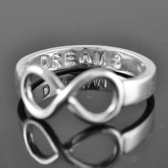 ON SALE promise ring infinity ring personalized by JubileJewel, $49.00