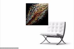 Almost sold out- let's deal- Clearance Sale! Acrylic pour fluid art by Pamela Henry, black gold and copper conversation peice contemporary art wall decor home or office #liquidart http://etsy.me/2iD038v