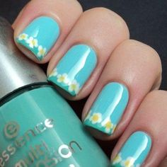 Love this color~cute little flowers...