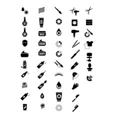 HairCosmetics and More webshop icons.