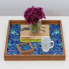 Aimee St Hill Paisley Blue Coaster Set | DENY Designs Home Accessories #DENYholiday #blackfridaysale #christmasgifts