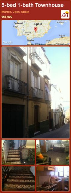 Townhouse for Sale in Martos, Jaen, Spain with 5 bedrooms, 1 bathroom - A Spanish Life Almost Perfect, Seville, Townhouse, Tile Floor, Home And Family, Spain, Old Things, Layout, Bathroom