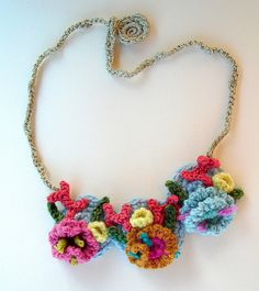 Crochet Hyperbolic Coral Reef Necklace | Flickr - Photo Sharing!