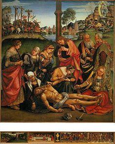 Signorelli - Il Compianto sul Cristo morto è un dipinto a tempera su tavola (270x240 cm) di Luca Signorelli, databile al 1502 e conservato nel Museo diocesano di Cortona.