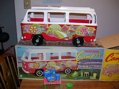 Barbie Beach Bus and Camper | 1962 – 2013 Barbie, Family and Friends doll 'Cars' |  Barbiedoll ...She just needs her own board!