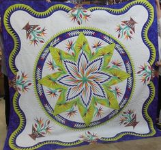 Paradise in Blooms, Quiltworx.com, Made by Cindy McEntee, Quilted by Lisa Taylor