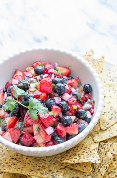 Blueberry Strawberry Salsa by Taste Love and Nourish