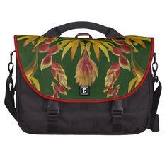 Tropical flower commuter bags