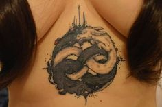 Auryn tatto Neverending History tatto by MomeAlvarado #neverendinghistorytatto #falkor #gmork