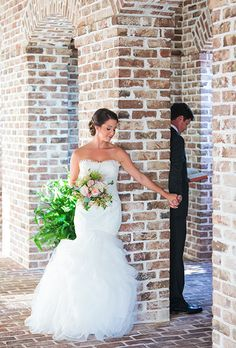 This first-look photo is so sweet | Brides.com