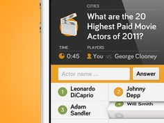 Dribbble - Quiz App iPhone UI by Moritz v. V.