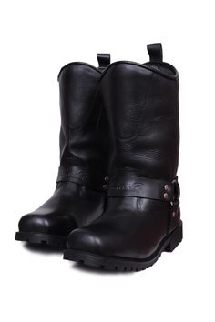 Motorcycle Cowhide leather Long boots