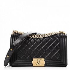 Pre-Owned Chanel Boy Flap Quilted Lambskin Aged Gold-tone Medium Black Chanel 19, Coco Chanel, Chanel Fashion, Chanel Bags, Chanel Style, Gucci Bags, Quilted Handbags, Hermes Handbags, Burberry Handbags