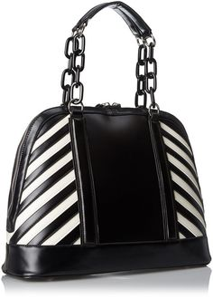 Gx By Gwen Stefani Chain Handle Satchel With Top Zipper Shoulder Bag Black One