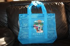 NEW Disney Aulani Mickey Donald Goofy Chip Dale Nylon Mesh Hawaii Beach Tote Bag