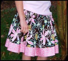 Nana's Knit-Yoke Twirl Skirt - 6mths-12yrs   YouCanMakeThis.com