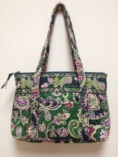 Vera Bradley Retired Chelsea Green Pattern Little Betsy Handbag Purse #VeraBradley #ShoulderBag