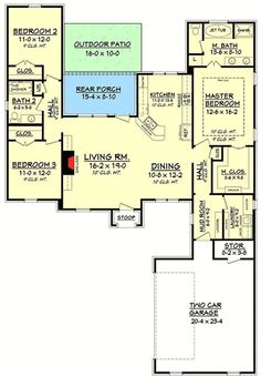 Plan 11796HZ: 3 Bed French Country With Open Floor Plan