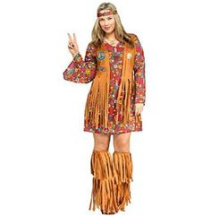 Peace and Love Hippie Plus Costume