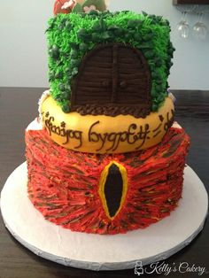 Lord of the Rings Cake - www.KellysCakery.com