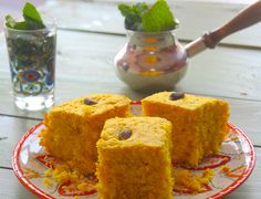 A vegan, delicious middle eatern turmeric cake that is not too sweet but perfect with some tea or coffee. (eid sweets for kids) Yummy Treats, Sweet Treats, Yummy Food, Fun Food, Delicious Desserts, Bakery Recipes, Cooking Recipes, Vegan Recipes, Eid Sweets