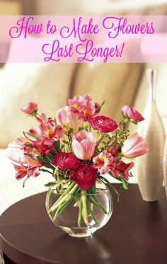 Getting flowers for #Valentines Day?  These tips, tricks, and hacks will help make those beautiful Valentine flowers last longer.  How to make flowers last longer.