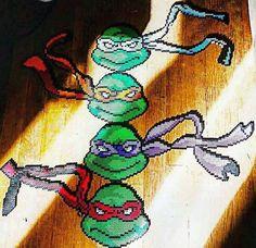 #tmnt #teenage_mutant_ninja_turtles #perler #turtlepower by 8_bitbabe