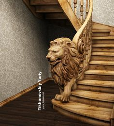 New Wooden Stairs Railing Stairways 18 Ideas Wood Carving Art, Wood Art, Wood Carving Designs, Art Sculpture En Bois, Deco Originale, Got Wood, Staircase Design, Railing Design, Stairways