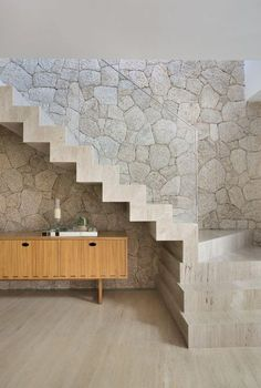 Creative Ideas To Use The Space Under Your Stairs. In these space-starved times, most of us want to utilise every inch of storage in our homes. So making the most of under-stairs cupboards. House Staircase, Staircase Design, Home Stairs, Stone Interior, Interior Stairs, Under Stairs Cupboard, Concrete Stairs, Stairs Architecture, Modern Stairs