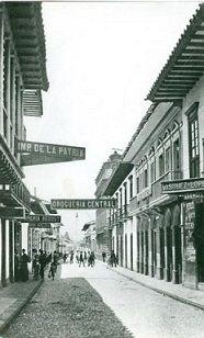 Antigüo Medellín, calle de Colombia. Siglo XX