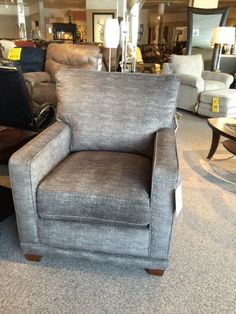 Shop Conway Furniture today and view our selection of living room furniture and accent chairs including oir Kennedy upholstered chair. Click now or stop into our Listowel location! Upholstered Chairs, Table And Chairs, Recliner, Living Room Furniture, Accent Chairs, Armchair, Home Decor, Chair, Sofa Chair