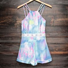 tie dye the watercolor romper