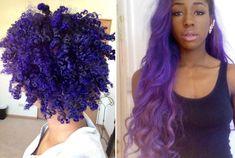 purple hair on african american dark skin black girls with colored hair