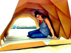 Origami-Inspired Cardboard Homeless Shelters, To Help People Get Off T