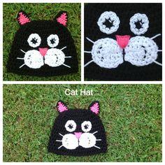Crochet Cat Hat Pattern . Newborn - Adult Sizes on Etsy, $2.99