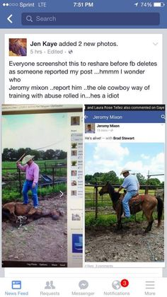 Man Hog-Ties And Beats Horse With Whip, Post Pictures Of Abuse Via Facebook