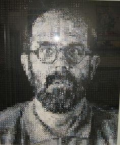 Chuck Close (American, 1940). Self-Portrait, 1995. The Metropolitan Museum of Art, New York. Reba and Dave Williams Gift, 1996 (1996.333)