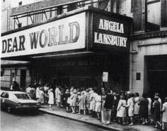 Broadway marquee Dear World Mark Hellinger Theatre Angela Lansbury Jerry Herman