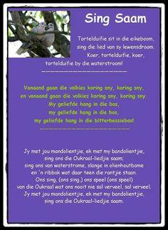 Tortelduifie sit in die eikeboom, sing dit lied van sy lewensdroom ... | Afrikaanse rympies en liedjies