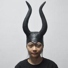 Maleficent Angelina Cosplay Halloween Scary Latex Mask