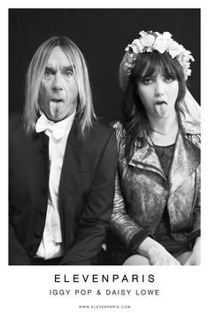 #Beautiful couple #amour atypique #agedifferent #just in love   [in Beauty and the Beast (2014)]Iggy Pop & Daisy Lowe by Mathieu César for ELEVENPARIS FW 12 l 13]