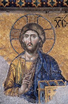 Mosaic of Christ Pantocrator (Lord of the Universe), Hagia Sophia. Hagia Sophia, Christ Pantocrator, Religious Icons, Religious Art, Rome Antique, Images Of Christ, Religion, Byzantine Art, Catholic Art