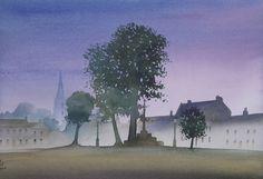 Masham Market Palce, Watercolour, Ian Scott Massie