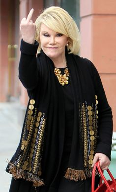 Last year, academic and razor-sharp social critic Camille Paglia penned a tribute to Joan Rivers for The Hollywood Reporter. Joan Rivers, Aging Gracefully, Celebs, Celebrities, Actors & Actresses, Beautiful People, Hollywood, My Style, Women